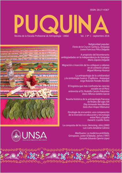 Ver Vol. 1 Núm. 1 (2018): PUQUINA
